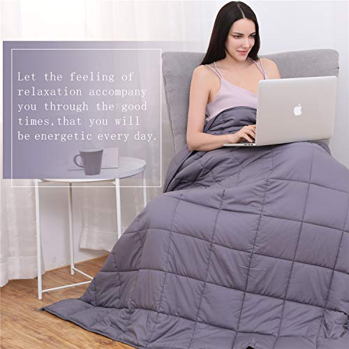 "Kpblis Weighted Blanket 15 lbs 60"" x 80"