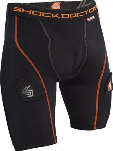 Shock Doctor Men's Core Compression Short with Bio-Flex Cup - B/XXS - Black
