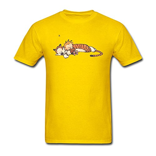 f0b4c9b45 Men's Thomas Calvin And Hobbes Tiger Sleep Short Sleeve T-Shirt