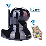 Sotion 1080P Baby Monitor, HD Wireless Pet Camera with Two Way Audio and Night Vision for Home/Indoor Security, Internet IP Surveillance WiFi Dome Camera System with Motion Detection, Pan and Tilt Review