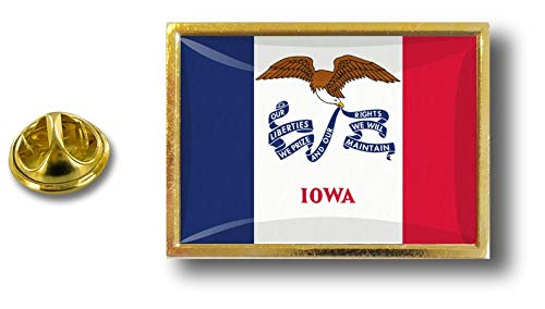 de Con los Pin Badge Pins Bandera Unidos Iowa de Estados Mariposa Pin Estados Akacha Metal Clip 7Aq40qn