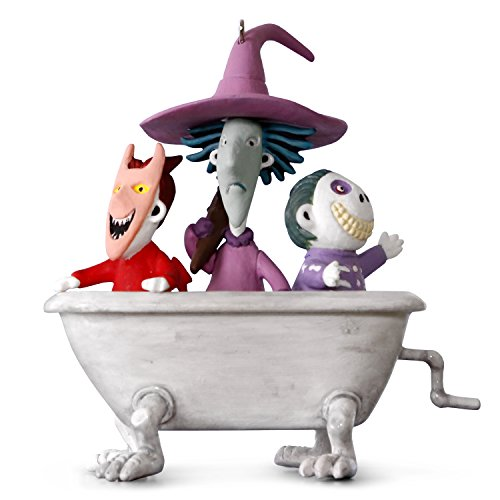 Hallmark Keepsake 2017 Tim Burton's The Nightmare Before Christmas Lock, Shock and Barrel Musical Christmas Ornament]()