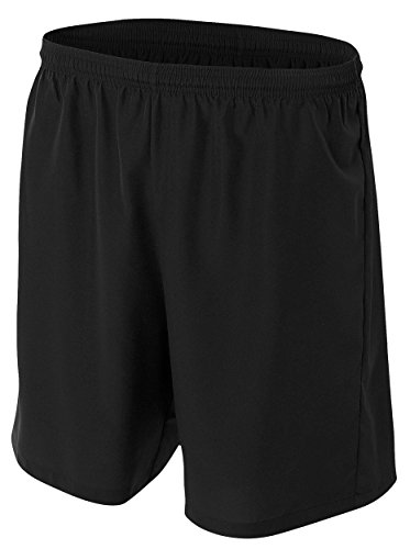 A4 Youth Woven Soccer Short, Large, Black ()