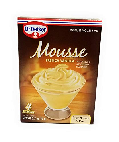 Mousse Chocolate White - Dr Oetker French Vanilla Mousse, 2.7-Ounce (Pack of 6)