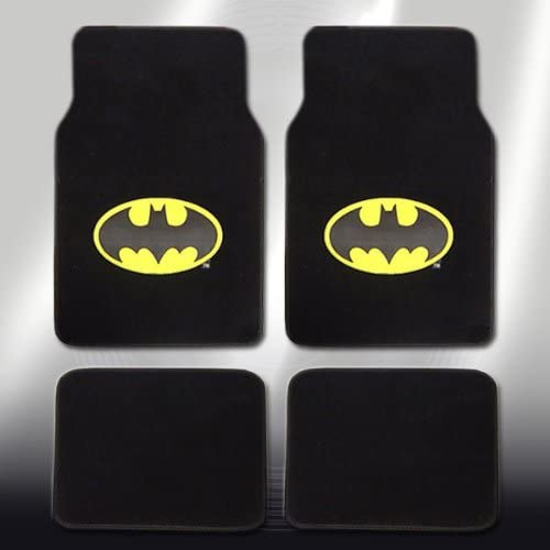 FOR NISSAN ULTIMATE BATMAN CAR SEAT COVERS COMIC POW HEADREST AND MATS SET
