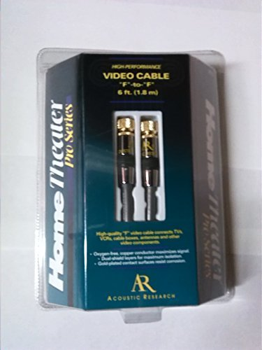 - Acoustic Research HT111 High Performance Video Cable - F-Pin to F-Pin 6Ft (1.8m)
