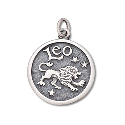 (Sterling Silver Heavy Two-Sided Leo Zodiac Charm Item #42101)
