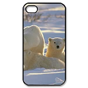 QNMLGB Hard Plastic of Polar Bear Cover Phone Case For Iphone 4/4s [Pattern-1]