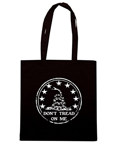 T-Shirtshock - Bolsa para la compra TM0665 dont tread on me Negro