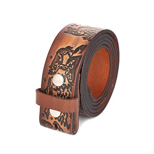 Gelante Genuine Full Grain Leather Belt Strap without Belt Buckle G2018-S