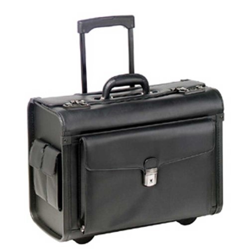 Mancini Lawyer/litigation Rolling Simulated Leather Briefcase (Simulated Leather Zippered)