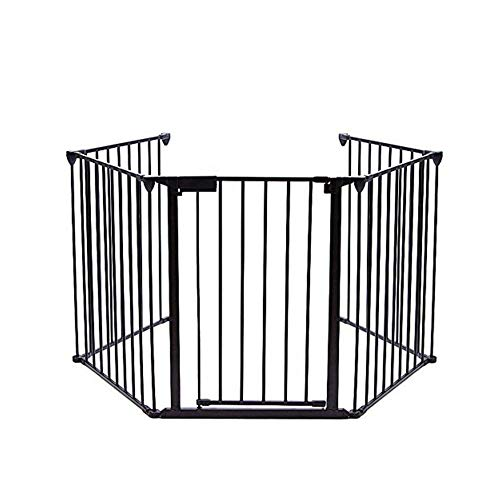 Garden Bean Fireplace Fence Baby Safety Hearth Metal Configurable Gate BBQ Fire Pet Dog Cat Christmas Tree Fence Without Installation