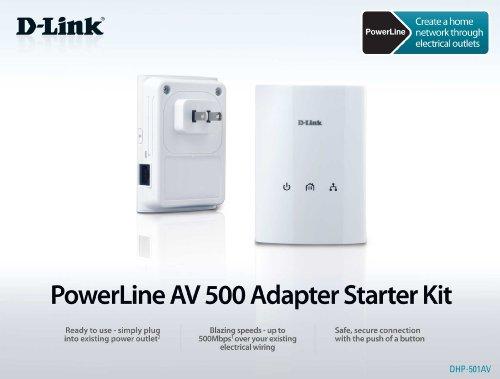 D-Link PowerLine Adapter AV500 Gigabit Mini Starter Kit (DHP-501AV) by D-Link (Image #6)