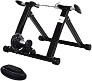 Soozier Folding Indoor Magnetic Bike Exercise Trainer Converter Bicycle Training Stand Home Workout Exerciser