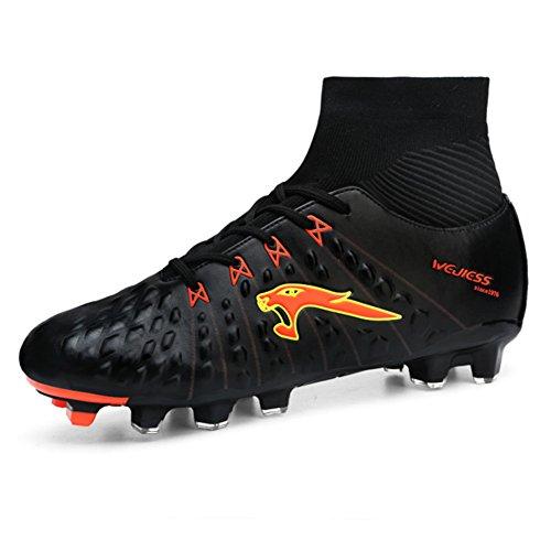 Leader Show Hommes Chaussures De Football Athlétique Mode Football Cleat Noir-2