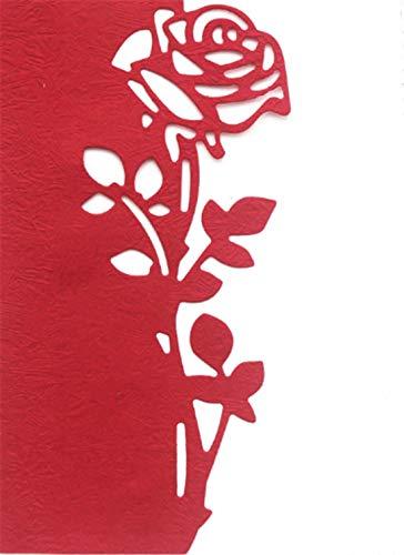 Mvchif Cutting Dies Metal Stencils Scrapbooking Tool DIY Craft Carbon Steel Embossing Template for Paper Card Making (Rose Flower)