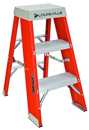 Louisville Ladder FY8003 300-Pound Duty Rating Fiberglass Step Stand Ladder, 3-Foot by Louisville Ladder