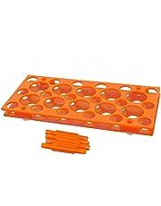Caja de puntas de pipeta de pipeta Suministros de laboratorio rectangulares Naranja 28 Posición 1pcs