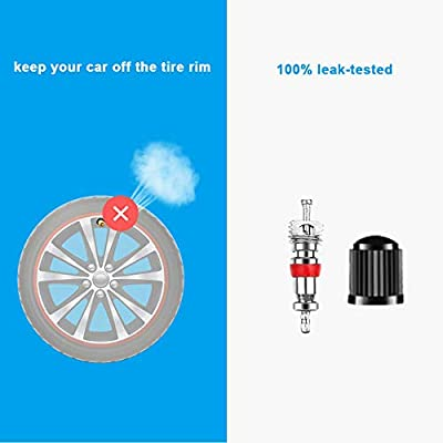 Riseuvo Valve Stem Removal Tool - 40Pcs Valve Cores, 4-Way Valve Tool, Valve Core Remover Tool, Tire Repair Schrader Valve Tool: Automotive