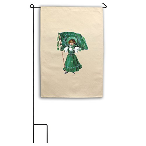 Style in Print Girl In Green Dress Flag Erin Go Bragh Canvas