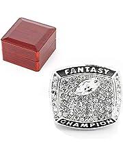 Ffl 2017 Fantasy Football Champion-Ship Ring MVP Trofee Prijs voor Sportfans Ring Keepsake Heren Collectie Souvenirs Gift met houten doos, maat 8-14