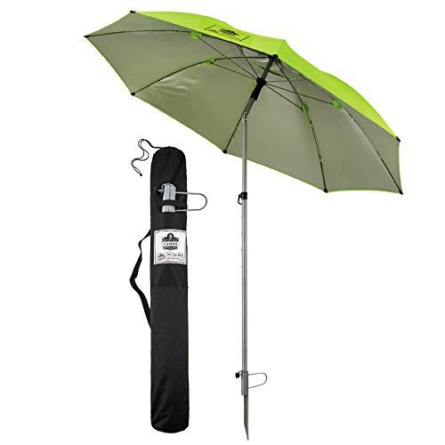 Umbrella Canopy, Portable Sun Shade, 7.5' Diameter, Includes Ground Spike & Storage Bag, Ergodyne Shax 6100