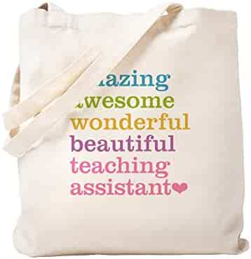 69475d2389 CafePress - Amazing Teaching Assistant - Natural Canvas Tote Bag