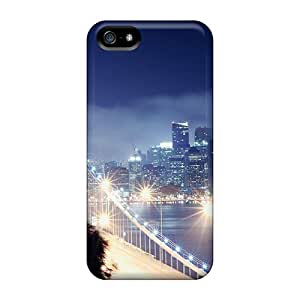 Quality CaroleSignorile Cases Covers With San Francisco Bay Bridge Lights Nice Appearance Compatible With Iphone 5/5s
