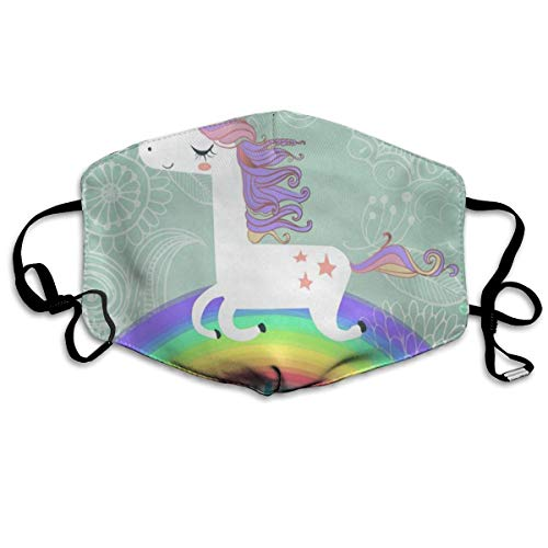 Dust Mask Miracle Unicorn Rainbow Fashion Anti-dust Reusable Cotton Comfy Breathable Safety Mouth Masks Half Face Mask for Women Man Running Cycling Outdoor