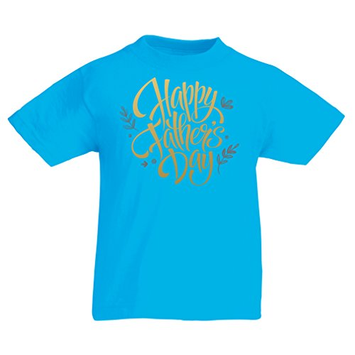 Camisas para niños Feliz día de los Padres - Mejor Regalo de la Esposa, Hijo o Hija (14-15 Years Azul Claro Multicolor)