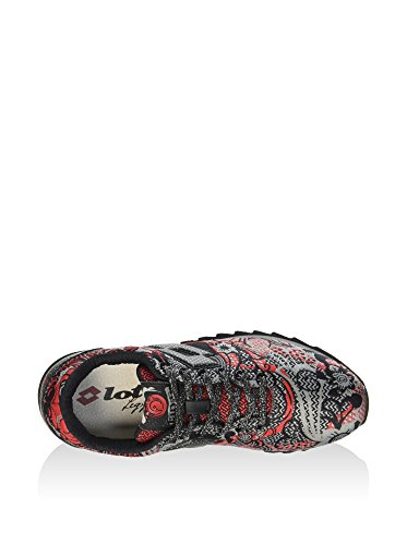 Lotto Leggenda, Donna, Osaka Red Prestige Flower Red, Tessuto tecnico, Sneakers, Nero, 36 EU Red
