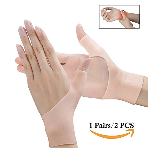 Povihome Wrist Brace Carpal Tunnel, Gel Wrist Brace, Wrist Pain & Arthritis Thumb Brace, Gel Compression Gloves for Carpal Tunnel, Hand Tendonitis, Arthritis, Typing, Rheumatism 2PCS Gloves Carpal Tunnel Wrist Brace