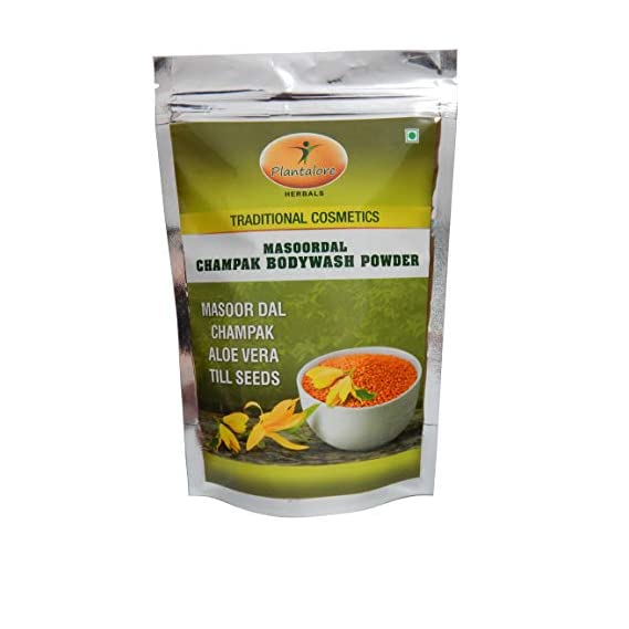 Plantalore Herbals Masoor Dal Champak Bodywash Powder, 250g