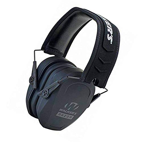 Walker's Game Ear Razor Slim Passive Earmuff, Shooting Hearing Protection, Ultra Low-Profile Earcups (Limited Edition)