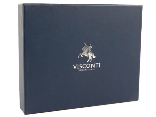 amp; MENS Quality Brown by LEATHER VISCONTI Gift Collection Top WALLET Boxed Torino Tan Stylish 7U5BqdBxw