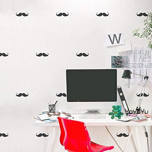 (Little Moustache Art Wall Stickers Home Kids Bedroom Cute Decor Wall Murals Set Patterned Series Wall Mural Wall Sticker T-39)