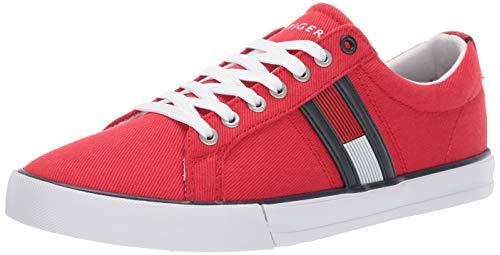 Tommy Hilfiger Men's Pally Sneaker, red, 12 M US