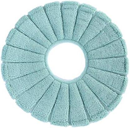トイレクッション冬クッションO字型スクエア太いぬいぐるみトイレトイレカバー家庭用トイレリングクッションは、ユニバーサルを増加しました。 (Color : Dark green)