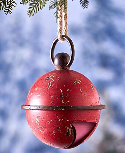 Tokogingseng Metal Christmas Red Jingle Bell Porch Hanging...