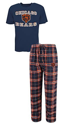 Concepts Sport Chicago Bears NFL Great Duo Men's T-Shirt & Flannel Pajama Sleep Set