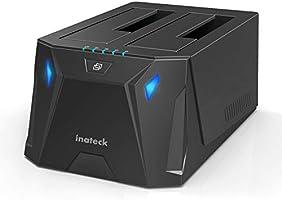 """Inateck Station d'accueil USB 3.0 vers SATA Double Baie pour Disque Dur SATA 2,5"""" et 3,5"""" SATA et SSD, Fonction clonage..."""