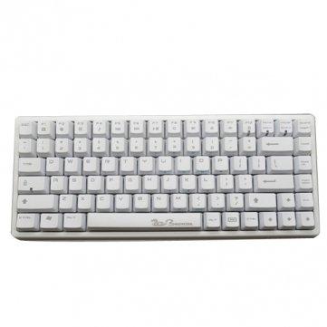 Tanzimarket - Keycool 84 Blanco Gaming Teclado mecánico -Cherry MX Clear Interruptor