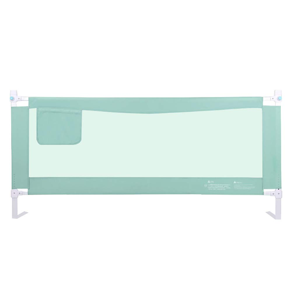 ベッドフェンス 幼児のガールズボーイズのための収納ポケットと高さ調節可能なベッドレール付きの幼児安全ベッドレール (サイズ さいず : Length 220cm) Length 220cm  B07KJK9PW2