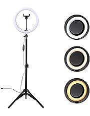 Iluminador Led Filmagem Ring Light 10 Polegadas Com Tripé MC9000