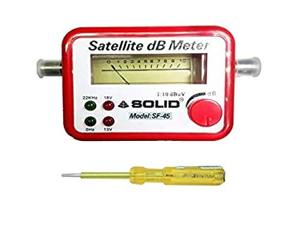 Inditrust Satellite Finder dB Meter for All DTH with 1 Current Tester