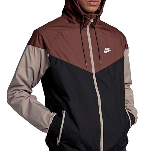 Nike Mens Windrunner Hooded Track Jacket Red Sepia/Black/Diffused Taupe 727324-236 Size 2X-Large