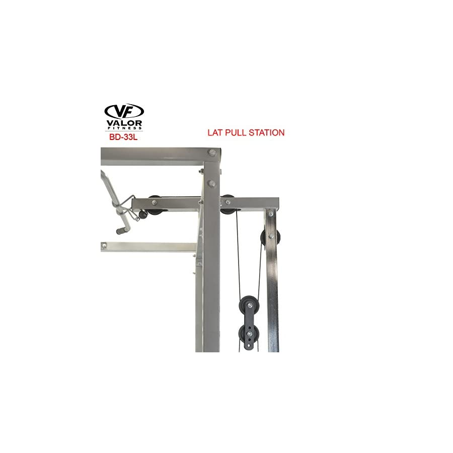 Valor Fitness LAT Pull for BD 33 Heavy Duty Power Cage