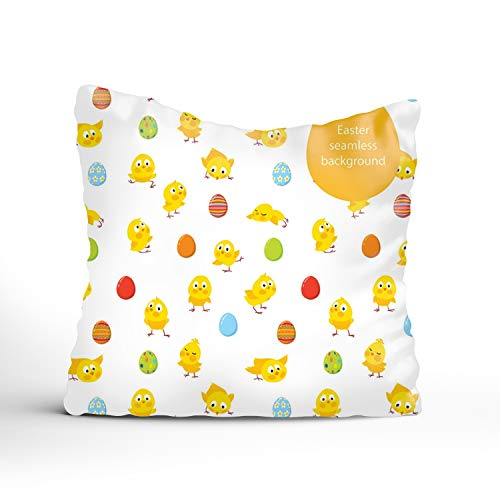 FunnyLife Easter Egg Throw Pillow Case Pillowcase Sofa (Seat Cushion Chicago White Sox)