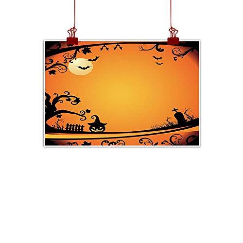 Sunset glow Canvas Wall Art Vintage Halloween,Halloween Themed