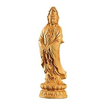 Amazon|観音菩薩立像 木彫仏像 ...